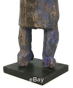 Art Africain Arts Premiers Ancien Fétiche Fon sur Socle Pièce Rare 37,5 Cms