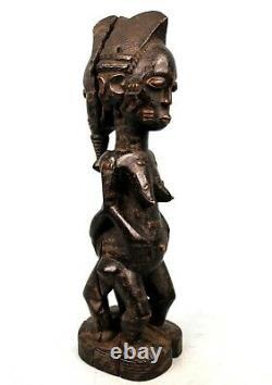 Art Africain Arts Premiers Ancienne Statue Baoulé Janus Alliance 39 Cms ++