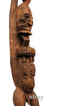 Art Africain Arts Premiers Ancienne Statue Tellem Dogon Bras Levés 65,5 Cms