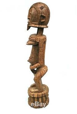 Art Africain Arts Tribaux Grande & Ancienne Statue de Hogan Dogon 67,5 Cms