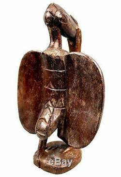 Art Africain Tribal Ancien Calao Senoufo Senufo African Bird 25,5 Cms ++++