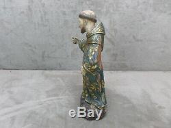BELLE STATUETTE en bois sculpté et polychrome. Ancienne