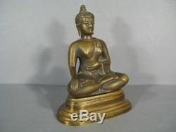 Bouddha En Bronze / Sculpture Bronze Bouddha / Bouddha Ancien Fleur De Lotus