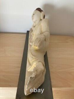 Bouddha ancien en albâtre époque SHAN (FAIRE OFFRE)