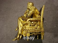 Bronze Ancien Ecrivain Signe Pradier