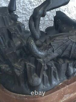 Bronze ancien signé FRANTA ANYZ st George terrassant le dragon