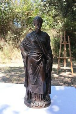 Bronze patine ancienne Femme Drapée epoque XIX eme