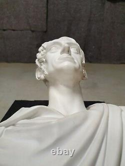 Buste Ancien Biscuit Sèvres Empereur Romain Porcelaine