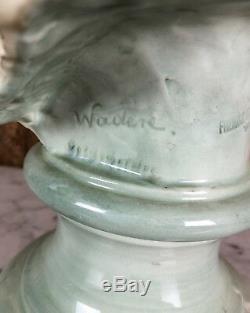 Buste Ancien De Waderé En Biscuit Signé Et Poinçonné Du Cachet Goldscheider
