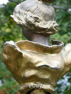 Buste Ancien Femme Facon Marianne Xixeme 1900 Sculpture Statue Ancienne