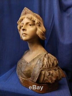 Buste Ancien Terre Cuite signé Richard Aurili 19ème antique terracotta bust