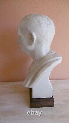 Buste En Platre De Caton L'ancien Moule Des Beaux Arts Xixeme
