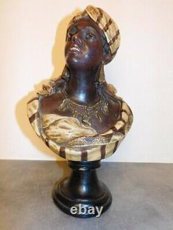 Buste En Terre Cuite Ancien De 36.5 CM De Haut