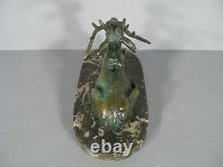Cerf Sculpture Animalière Ancienne Bronze Signé Maximilien Fiot