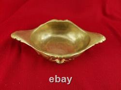 Coupe Drageoir en Bronze Doré signée L. Kann. Thiebaut Frères, L. 27cm ancien