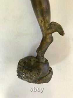 D'après Jean de Bologne Mercure ailé en bronze ancien XVIIIeme XIXeme