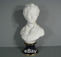 Daprès Houdon Ancien Buste Enfant Brongniart Porcelaine De Limoges Tharaud