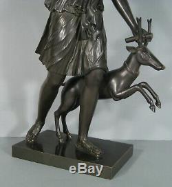 Diane De Versailles Grande Sculpture Ancienne Bronze Diane Chasseresse Artémis
