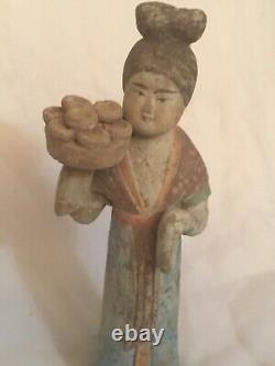 Dynastie Tang Chinese antique très belle statue ancienne chinoise