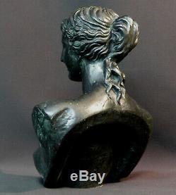 E superbe sculpture statuette ancienne buste Vénus métal 2.6kg26cm femme