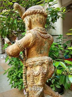 Exceptionnel ancien Ganesh en Papier mâché du Bengale Inde 19e