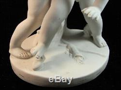 Falconet Sevres Ancienne Statue Sculpture Biscuit Amour Putti Angelot Cherubin