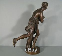Femme Antiquité Sculpture Ancienne Bronze Signé Barbedienne Et Achille Colas