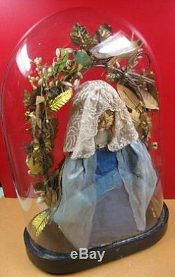 Globe verre Napoléon III, ancienne sculpture de cire statue, figurine