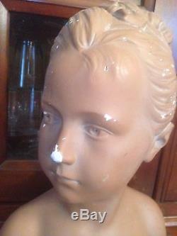 Grand Buste En Platre De Louise Brongniart D'apres Houdon (ancien)