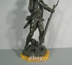 Grenadier Empire Grognard Napoléon Sculpture Bronze Ancien Signé Luca Madrassi