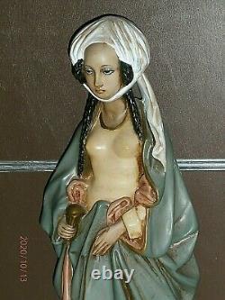 H. 51 cm/ SAINTE MARIE MADELEINE /ANCIENNE STATUE RELIGIEUSE/PLATRE POLYCHROME
