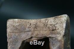 LA PETITE LISEUSE ANCIEN BUSTE en PLATRE SIGNE sous la Base BELLE PATINE H. 18 cm