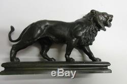 LION Bronze Ancien signé Charles VALTON