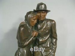 Le Froid Statue Ancienne Bronze Signé Roger-bloche Susse Frères Musée D'orsay