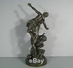 Lenlèvement Des Sabines Sculpture Ancienne Bronze Daprès Jean De Bologne
