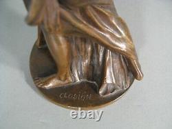 Les Trois Grces Femme Déesse De Beauté Sculpture Bronze Ancien Signé Clodion