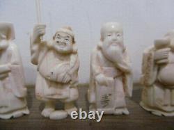 Lot 7 anciens Netsuke Okimono statue sculpture Chine Japon