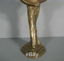Mascotte Ange Ailé Trophée Victoire Icare Sculpture Ancienne Bronze Signé
