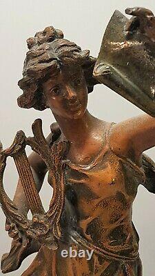 Mélodie sculpture statue ancienne Elégante Auguste Moreau