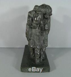 Militaria Soldats Exil Sculpture Ancienne Bronze Signé Saulo Fondeur Susse