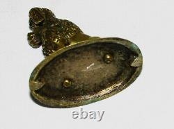 Petit Bronze Ancien Animalier Chien Caniche