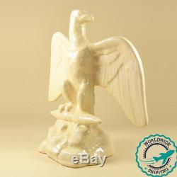 RARE Ancienne Sculpture en Faience Craquelée Napoléon Aigle Impérial