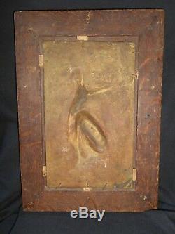 Rare Ancien Paire Trophée Chasse Pierre Jules Mène Plaque Bronze Art Populaire