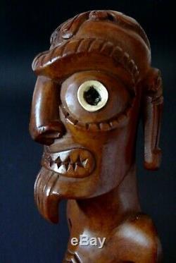Rare ancien moai rapa nui Kavakava Old statue easter island sculpture ile Paques