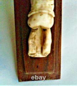 Rare ancien tabatiére érotique sculpture bois os xix éme 19 éme xx éme 20 éme