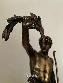 SCULPTURE ANCIENNE en bronze SIGNÉ EUGENE MARIOTON