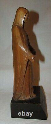 STATUE BRETONNE ANCIENNE SAINTE MARIE BOIS SCULPTE religious statue SCULPTURE