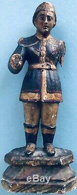 Sculpture Ancienne Bois Sculpté Art du XVII éme XVIIIe Siècle Portrait de Relig