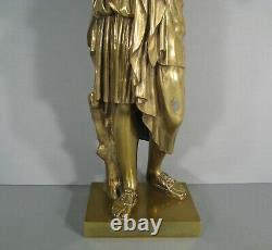 Sculpture Ancienne Bronze Diane De Gabies Artémis Deesse De La Chasse Praxitele
