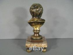 Sculpture Ancienne Buste Enfant Rieur Jean Qui Rit D'après Houdon